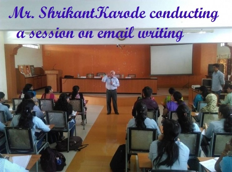 2_Sept15  ShrikantKarode conducting a session on email writing