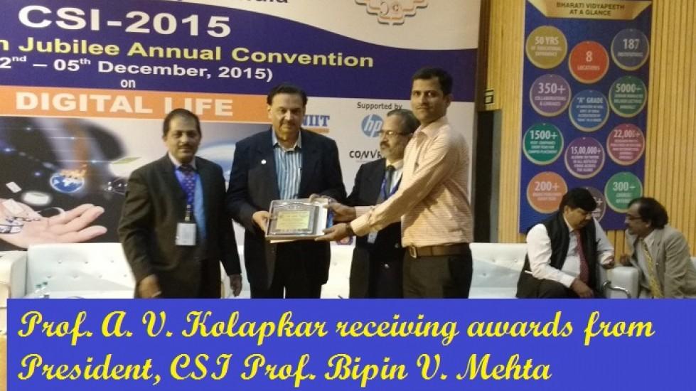 3_Dec15 Kolapkar receiving awards from President, CSI