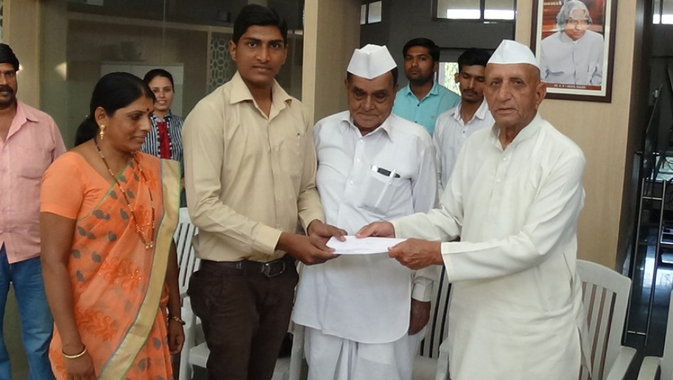 Distribution of Offer Letters by Ho.Prseident Shri. Balsaheb Wagh and Vice Chairman Shri. Kashinath Dada Tarle