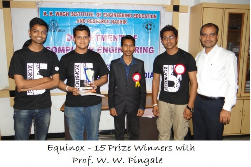 Equinox  15 Prize Winners with Prof. W. W. Pingale
