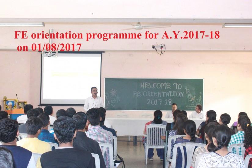 FE Orientation programme 2017-18