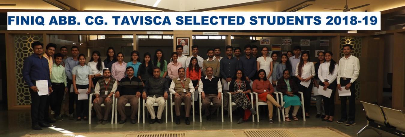 FINIQ, ABB, CG, TAVISCA Selected Students