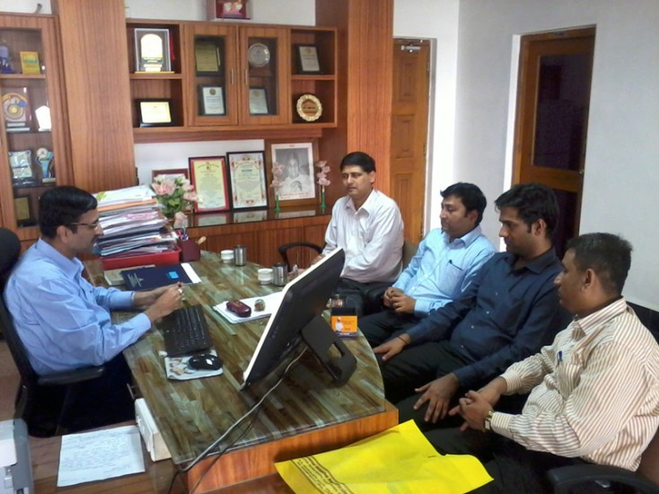 HR Mangers of Infosys with Principal Dr K N Nandurkar