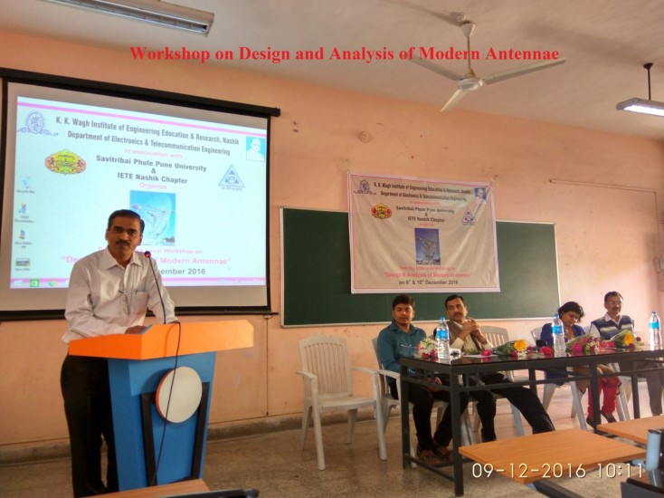 Workshop on Design and analysis of modern antennae 2