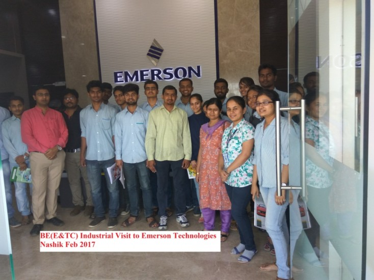 Industrial Visit to Emerson nashik BE E&TC