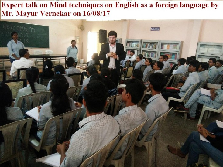 Expert talk on mind techniques on english as a foreign language