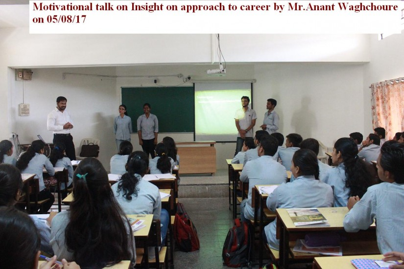 Motivational talk on insight on approach to carrer