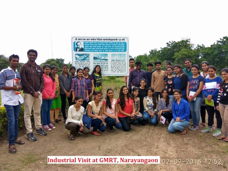 Industrial Visit at GMRT, Narayangaon