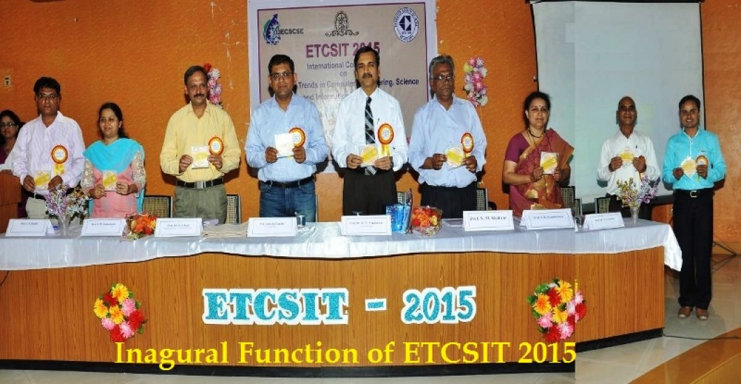 Inagural Function of ETCSIT 2015