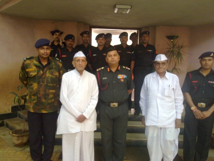 Indian Army Campus Recruitment team with Hon President of K K Wagh Education Society