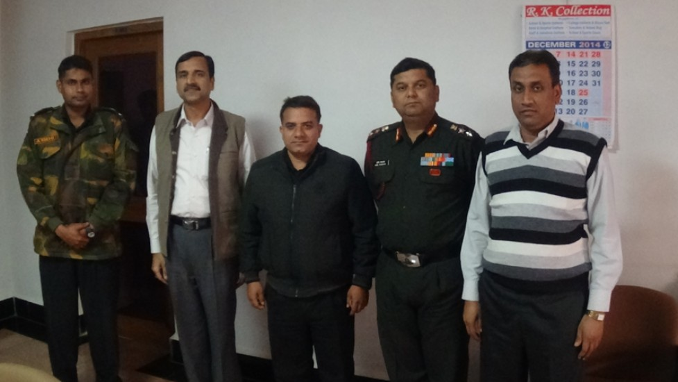Indian Army Team with Principal