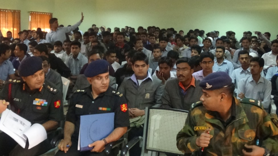 Indian Army in K K Wagh for conducting the Campus Interview