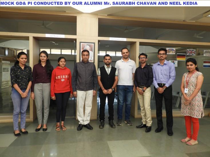 MOCK GD and PI by  our  Alumni Mr Chavan Saurabh and Neel Kedia