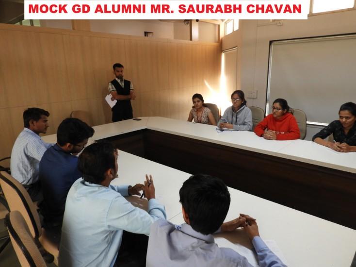 MOCK GD by Alumni Mr Chavan Saurabh
