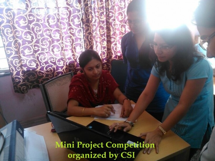 Mini Project Competition organized by CSI