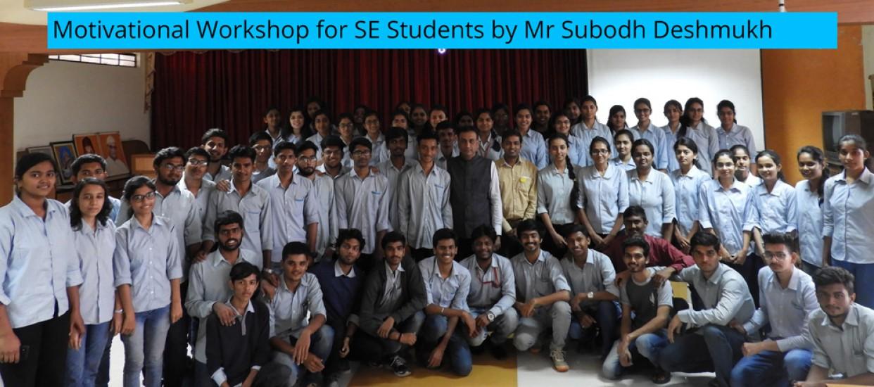 Motivational Workshop for SE Students by Mr Subodh Deshmukh