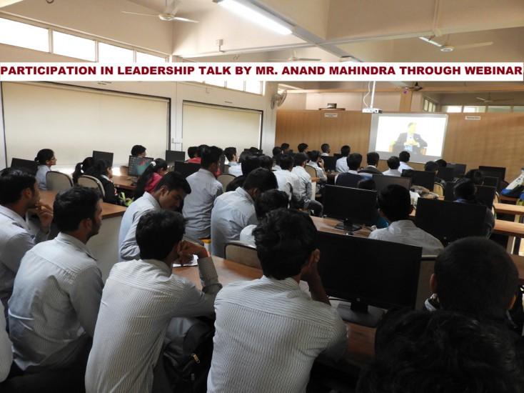 Partcipation in Leadership Talk by Mr Ananad Mahindra through Webinar 1