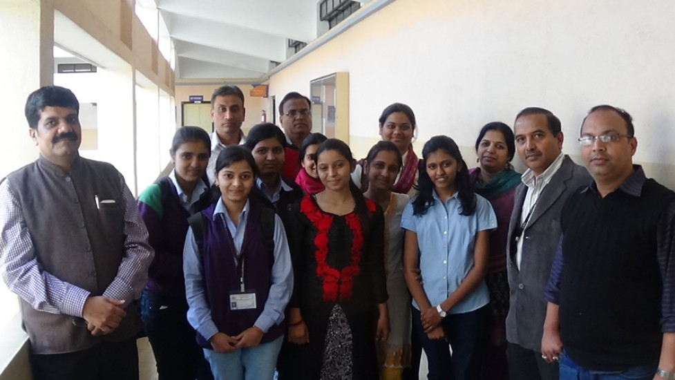 Selected Students along with Copmany Reprsentatives