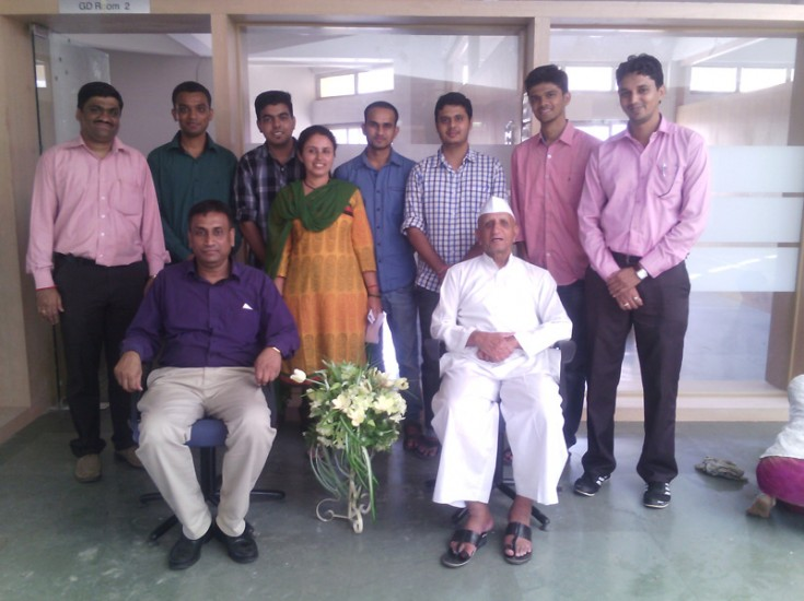 Selected students along with Hon. President Shri.Balashaeb Wagh