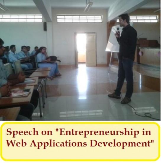 Speech on Entrepreneurship in Web Applications Development