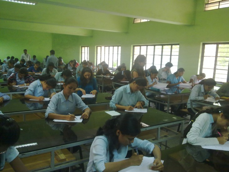 Students Partcipating in the Written Test of Campus Interview