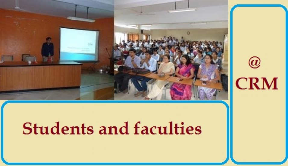 Students and faculties attending CRM Lecture