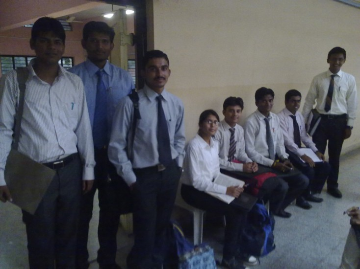 Students appearing for the Final Interview of Campus Selection