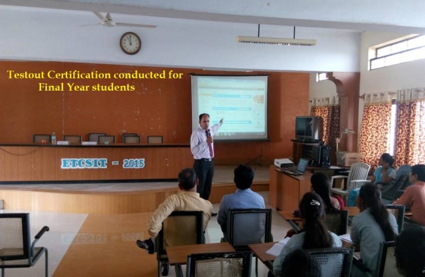 Testout Certification conducted for Final Year students