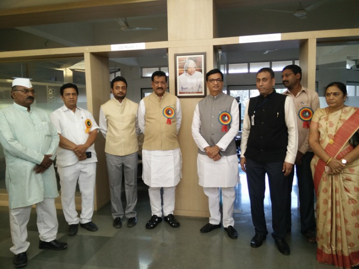 Visit of Hon Shri Prithviraj Chauhan to Dr A P J Abdul Kalam Career Developement Center