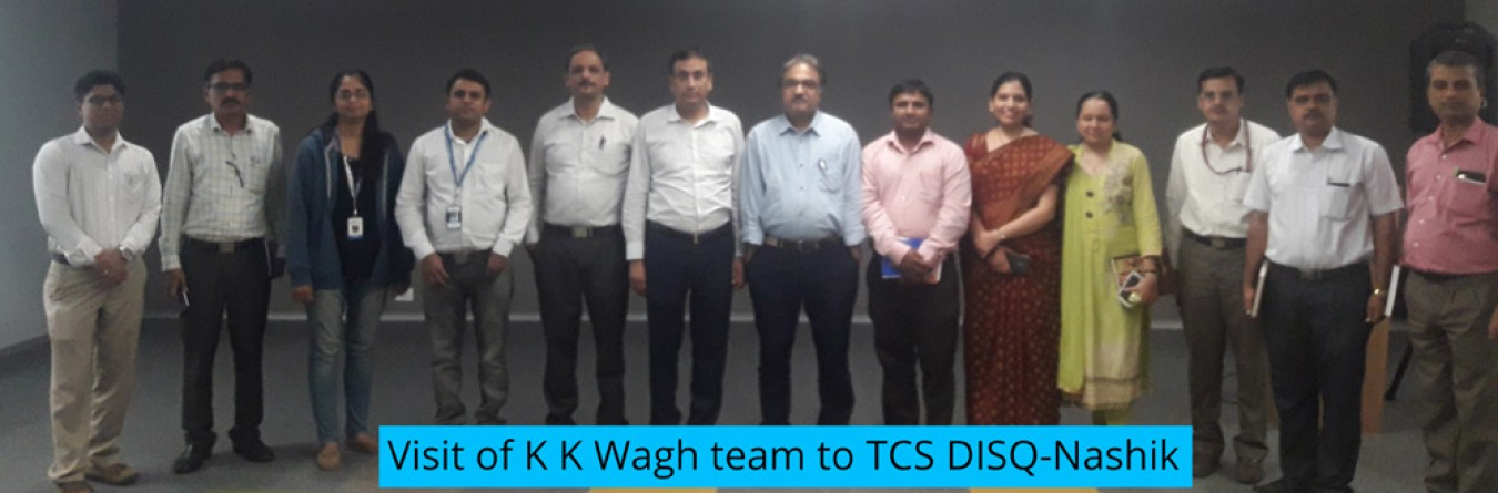 Visit of K K Wagh team to TCS DISQ-Nashik