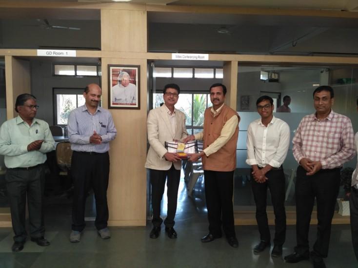 Visit of Mr H Banerjee, NIMA President to Dr A P J Abdul Kalam Career Developement Center (2)