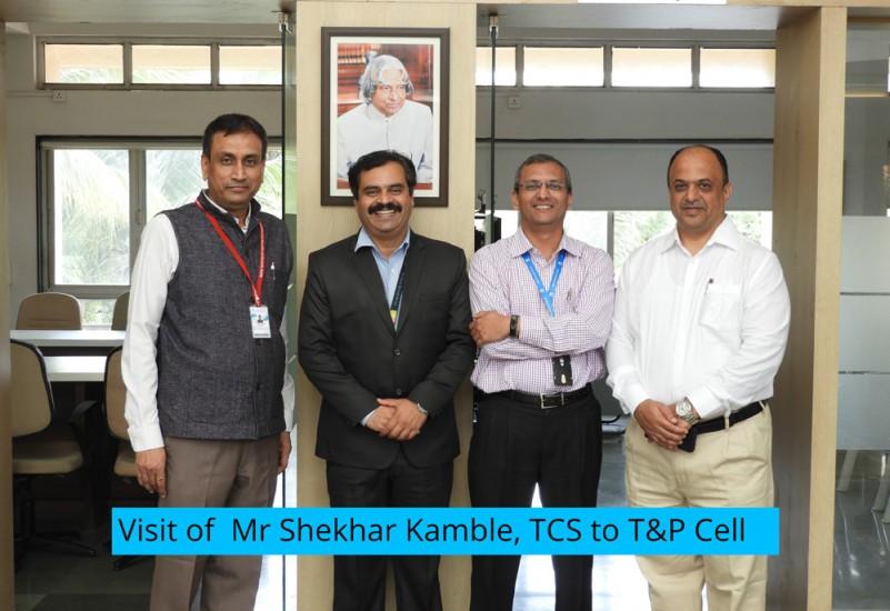 Visit of Mr Shekhar Kamble, TCS to T&P Cell