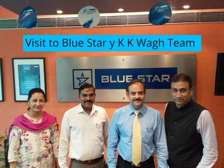 Visit to Blue Star y K K Wagh Team