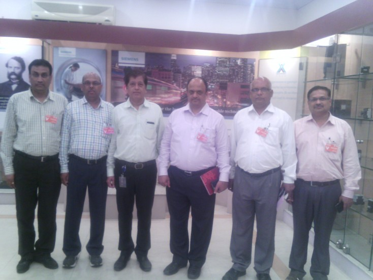 Visit to Siemens by K K Wagh Team