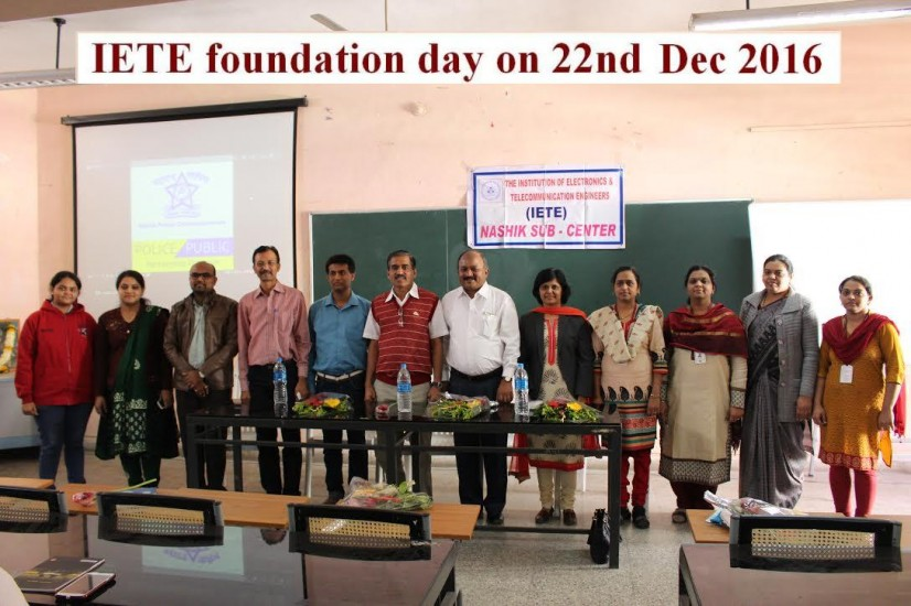 IETE foundation day on 22nd Dec 2016